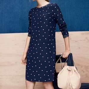 J. Crew Dresses - J Crew polka dotted silk shift dress
